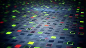 beaming squares loopable techno background - motion graphic
