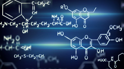 flying chemical formulas loop - stock footage