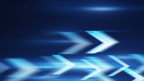 blue arrows fast motion loopable background - stock footage