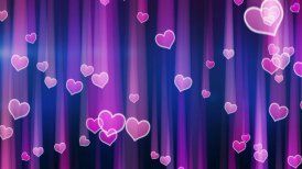 pink hearts with light streaks falling loop - motion graphic
