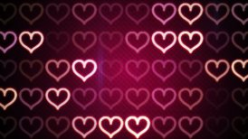 flashing heart shapes loopable romantic background - motion graphic