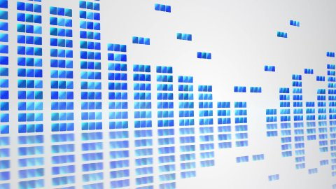 digital equalizer on white loopable background - stock footage