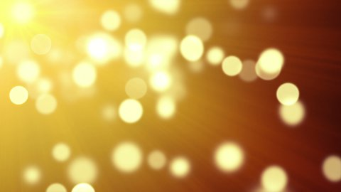 gold bokeh lights loopable background - stock footage