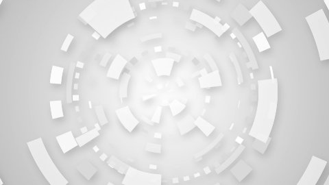 white techno circular segments loop background - stock footage