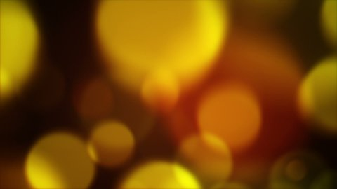 blurred yellow circles flashing rush loopable background - stock footage