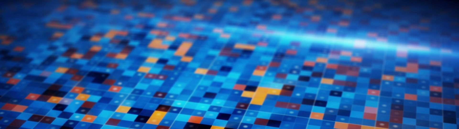 Beaming blue orange squares loopable techno background | beaming blue orange squares. computer generated loopable technology seamless loop motion background - ID:19852