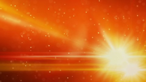 orange light flares and particles loop background - stock footage