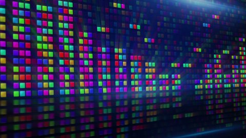 colorful digital equalizer loopable background - stock footage