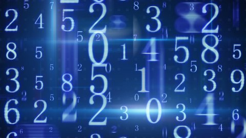 twitching glowing numbers loopable background - stock footage