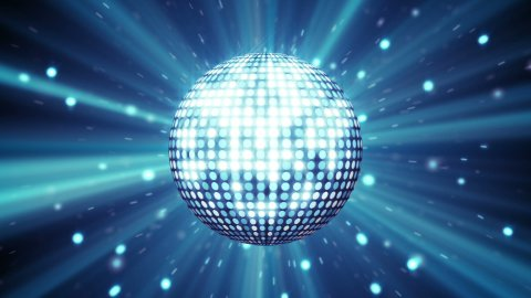 blue disco ball shining seamless loop - stock footage