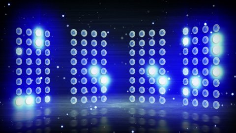 blue stage lights loopable background - stock footage