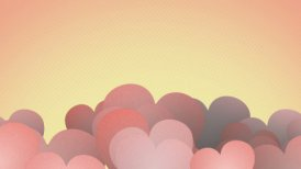vintage heart shapes slowly waving loop  - motion graphic