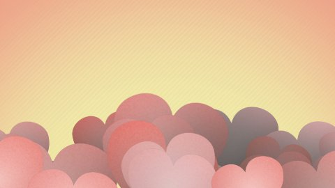 vintage heart shapes slowly waving loop