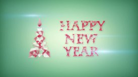 happy new year greeting triangles shape