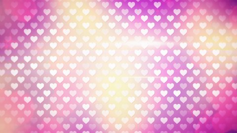 polka dot hearts loopable background  - stock footage