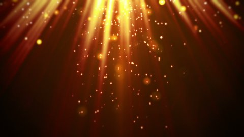 magic orange light rays and particles loop