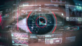 Eye of cyborg - motion graphic