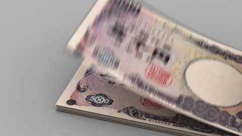 Counting Japanese Yen - stock footage