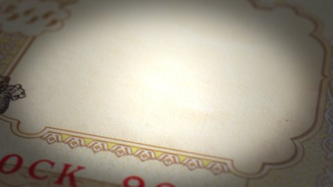 Indian Rupee Close-up - stock footage