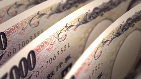 Japanese Yen Close-up - stock footage