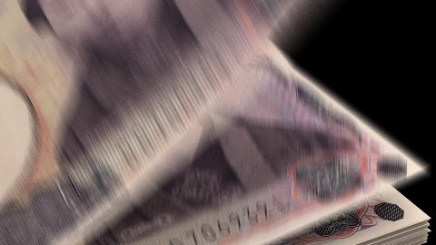 Counting Yen - stock footage