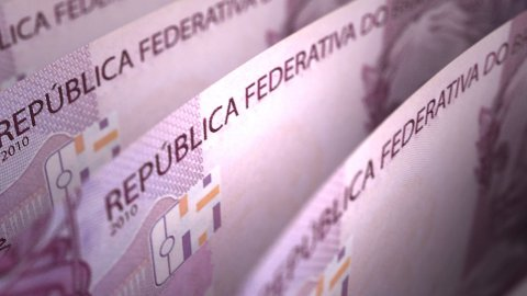 Brazilian Real Close-up - stock footage
