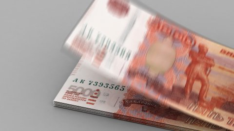 Counting Ruble - stock footage