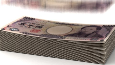 Money Fall Japanese Yen - stock footage