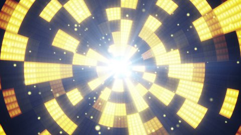 circular flashing segments loopable party background  - stock footage
