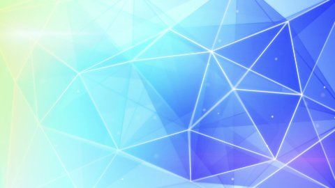 abstract triangle geometrical blue background loop  - stock footage
