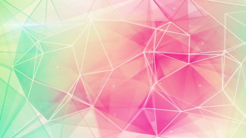 light green pink triangles background loop  - stock footage