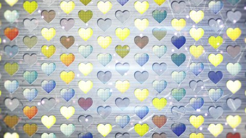 colorful flashing heart shapes loopable background  - stock footage