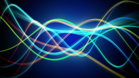 colorful flowing lines loopable background
