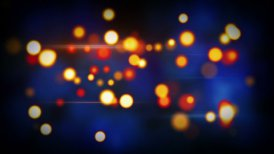 orange blue shining circle bokeh lights loop background