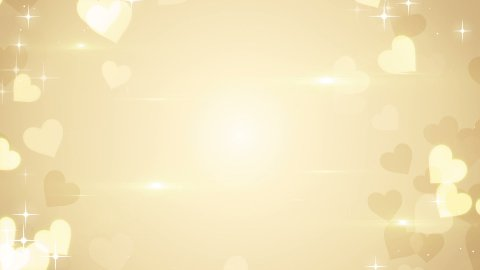 gold heart shapes on bright background loop  - stock footage