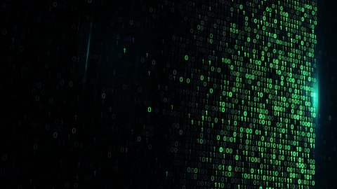 digital binary data scan loop background - stock footage