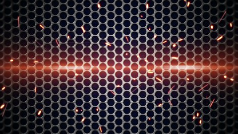 metal mesh and sparks loopable background
