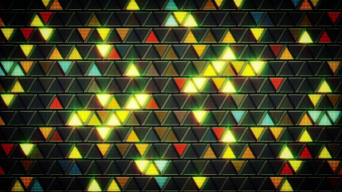 abstract geometric background shining triangles loop  - stock footage