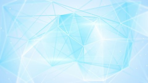 aberrated blue triangles abstract geometrical background loop  - stock footage