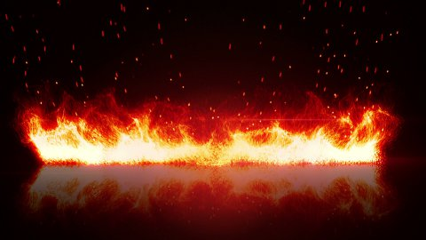 firewall and reflection loopable background  - stock footage