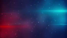 blue red lights and particles modern loopable background - motion graphic
