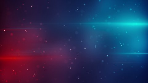 blue red lights and particles modern loopable background - stock footage