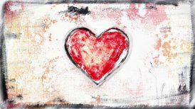 grunge painted heart shape glitch loop  - motion graphic