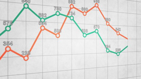 business graph chart seamless loop animation  - stock footage