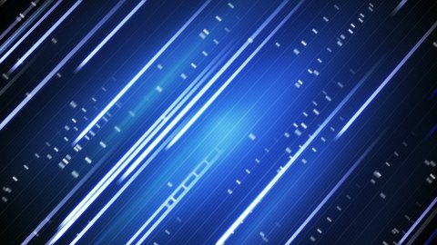moving blue stripes loopable background - stock footage