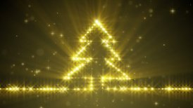 shiny christmas tree yellow stars loop