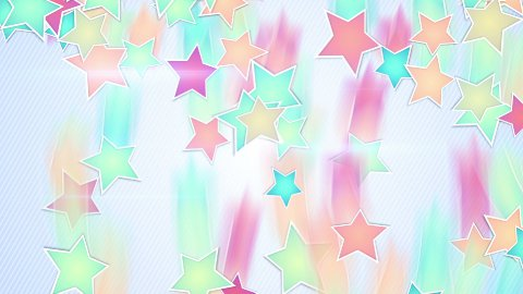multicolor stars falling loopable background  - stock footage