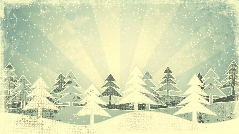 christmas winter scene grunge loopable animation