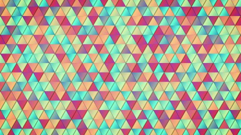 geometric pattern of colorful triangles loop  - stock footage