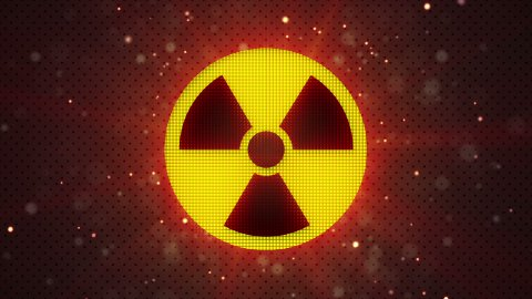 radioactive symbol loopable industry background  - stock footage